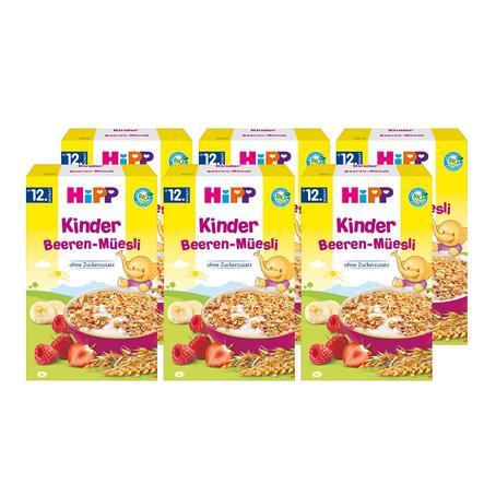 HiPP Bio Kinder Beeren-Müsli 6 x 200 g ab dem 12. Monat