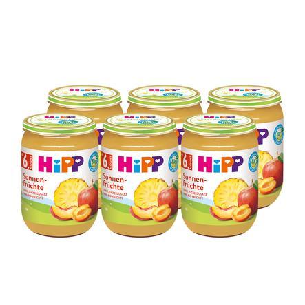 HiPP Früchte im Glas Bio-Sonnenfrüchte 6 x 190 g ab dem 6. Monat