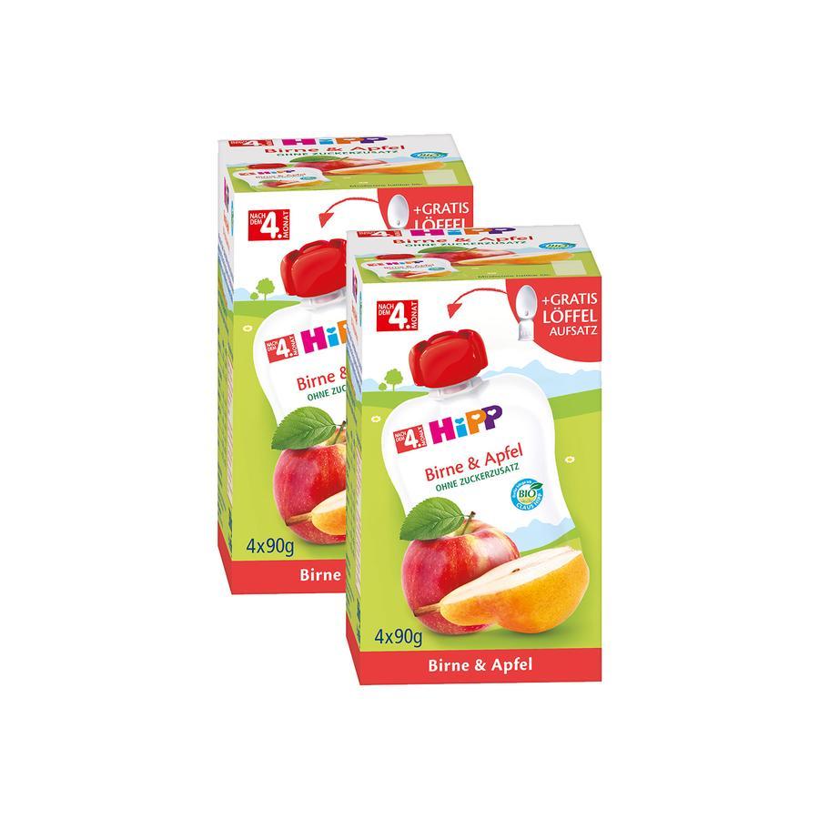 HiPP Quetschbeutel Birne & Apfel 8 x 90 g ab dem 5. Monat