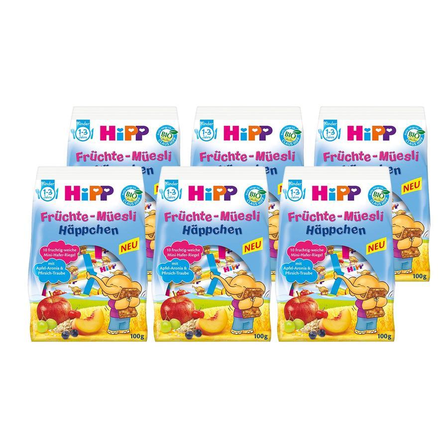 HiPP Früchte-Müsli-Häppchen Mini-Mix-Pack 6 x 100 g ab dem 1. Jahr