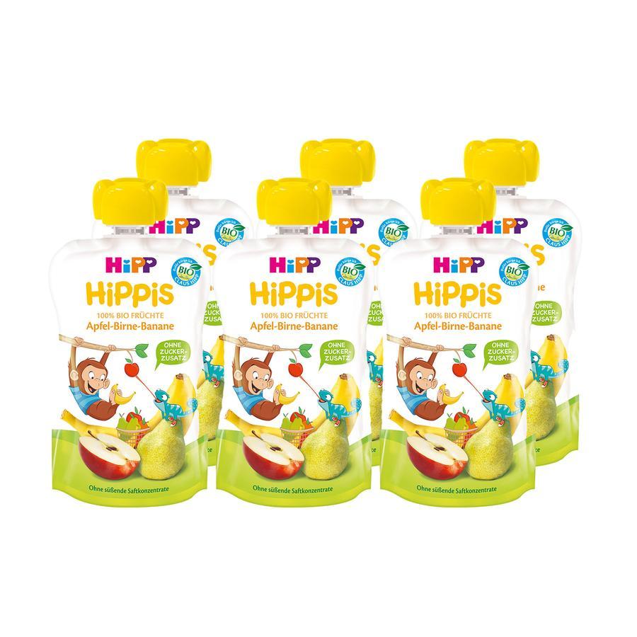HiPP HiPPiS Bio-Apfel-Birne-Banane Affe Anton 6 x 100 g ab dem 1. Jahr
