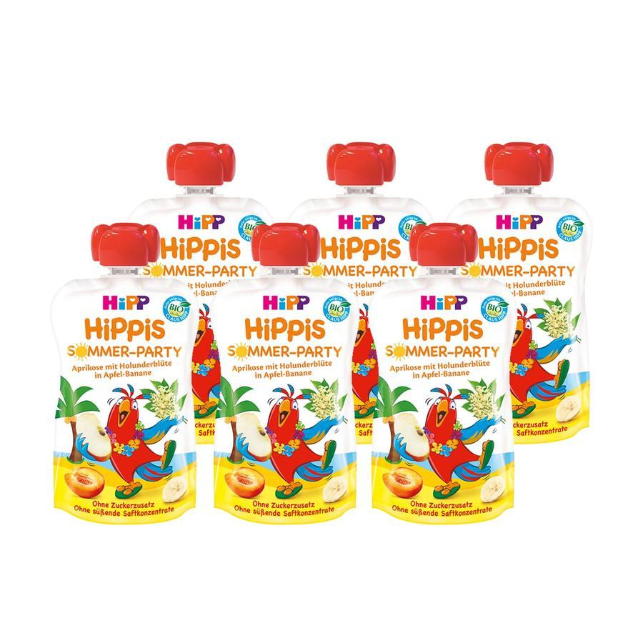 HiPP HiPPiS Bio-Aprikose mit Holunderblüte in Apfel-Banane Pepe Papagei 6 x 100 g ab dem 1. Jahr