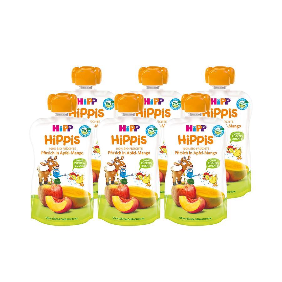 HiPP HiPPiS Bio-Pfirsich in Apfel-Mango Bennie Bock 6 x 100 g ab dem 1. Jahr