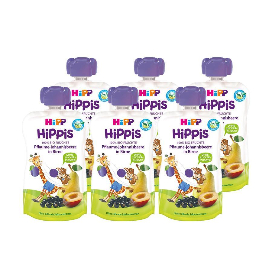 HiPP HiPPiS Bio-Pflaume-Johannisbeere in Birne Greta Giraffe 6 x 100 g ab dem 1. Jahr