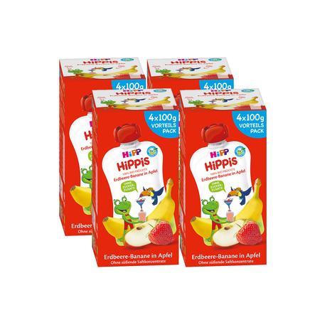 HiPP HiPPiS Bio-Erdbeere-Banane in Apfel Ferdi Frosch 16 x 100 g ab dem 1. Jahr
