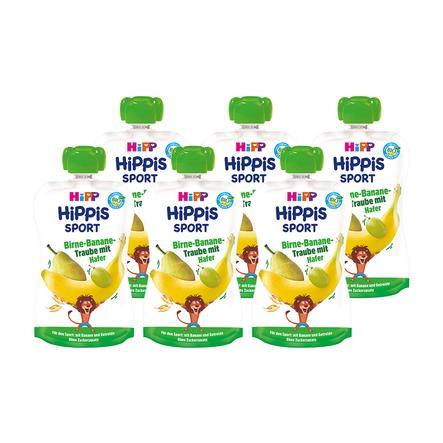 HiPP HiPPiS Sport Bio-Birne-Banane-Traube mit Hafer 6 x 120 g ab dem 1. Jahr