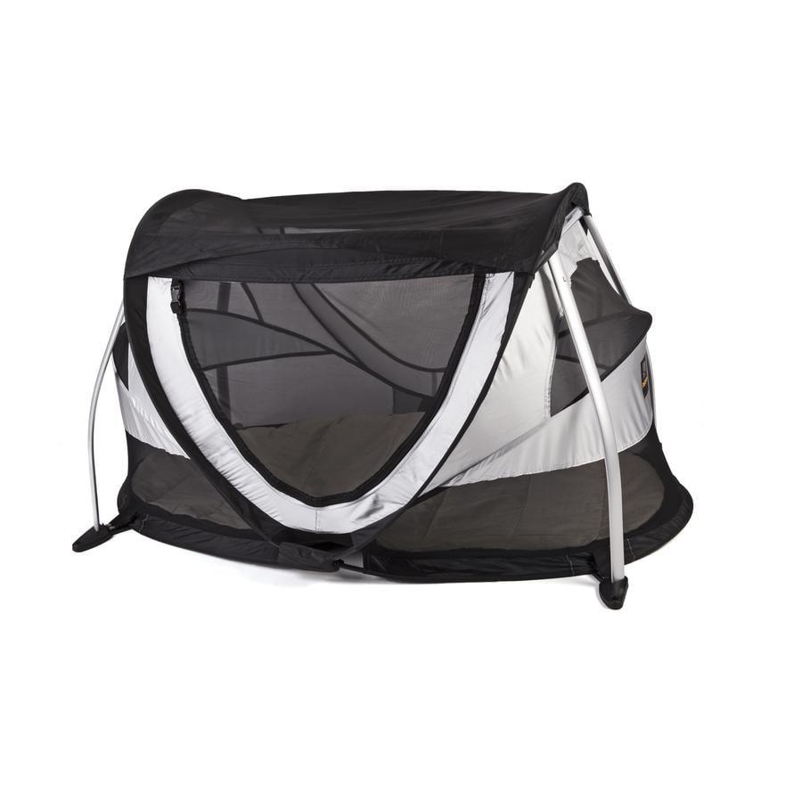 Deryan Reisbed/Tent Travel Cot Peuter Box zilver