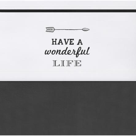 jollein Drap Have a wonderful life blanc 120 x 150 cm