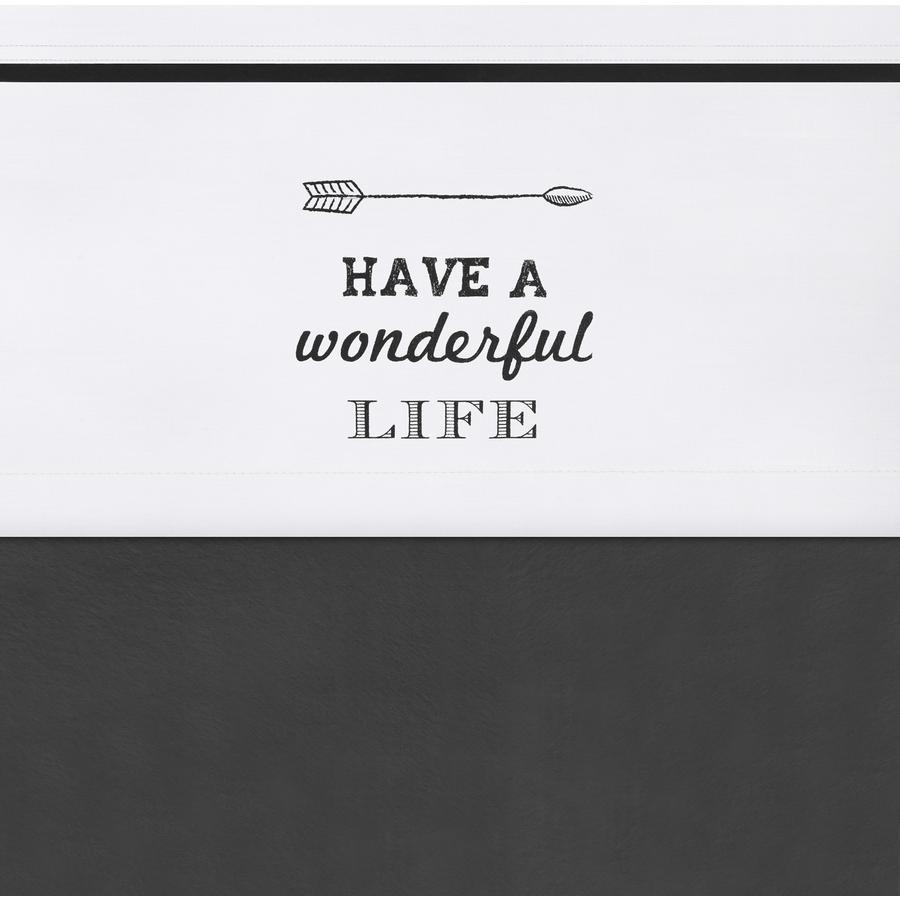jollein Lakan Have a wonderful life vit 120x150cm
