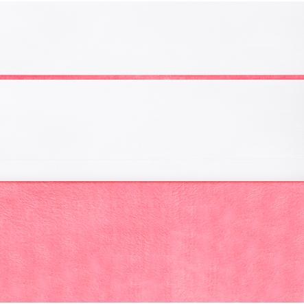 jollein Laken weiß mit Paspel raspberry 120x150cm