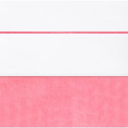 žloutek List bílý s malinovým lemováním 120x150cm