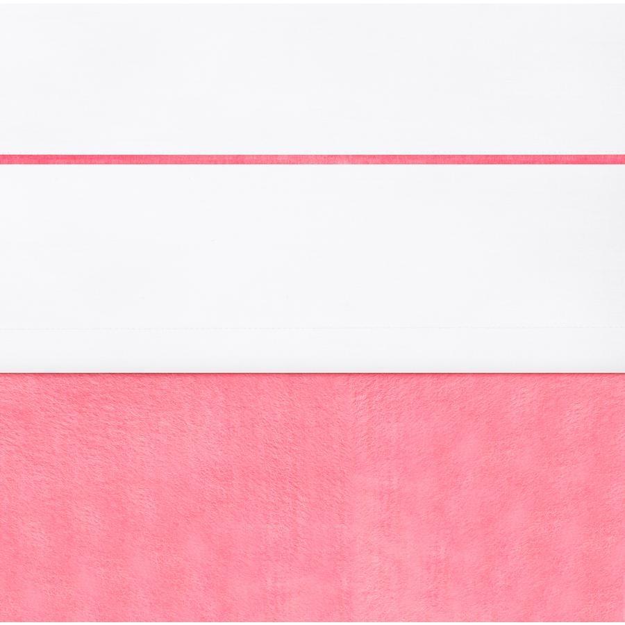 jollein Prześcieradło white z lamówką raspberry 120x150cm