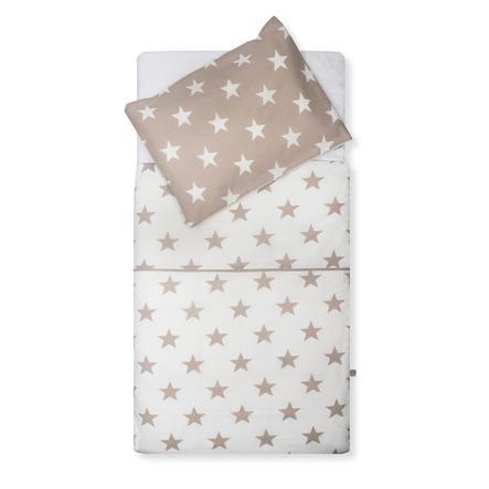 jollein Parure de lit Little star sand 100 x 140 cm, 2 pièces