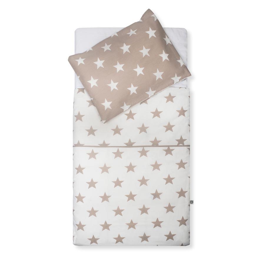 jollein Potah a povlak na polštářek Hvězdný písek 100x140cm