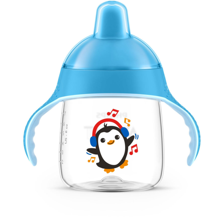 Philips Avent Schnabelbecher SCF753/05 blau 260 ml 12M+ Pinguin