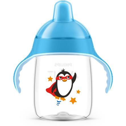 Philips Avent Tasse à bec enfant SCF755/05 340 ml 18 M+, Pingouin bleu