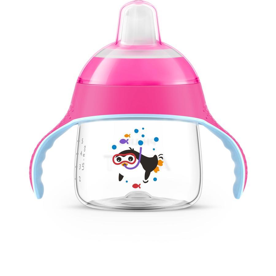 Philips Avent Tasse à bec enfant SCF751/07 200 ml 6 M+, rose