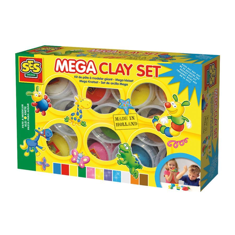 SES Creative® Kit pâte à modeler méga, 11 couleurs