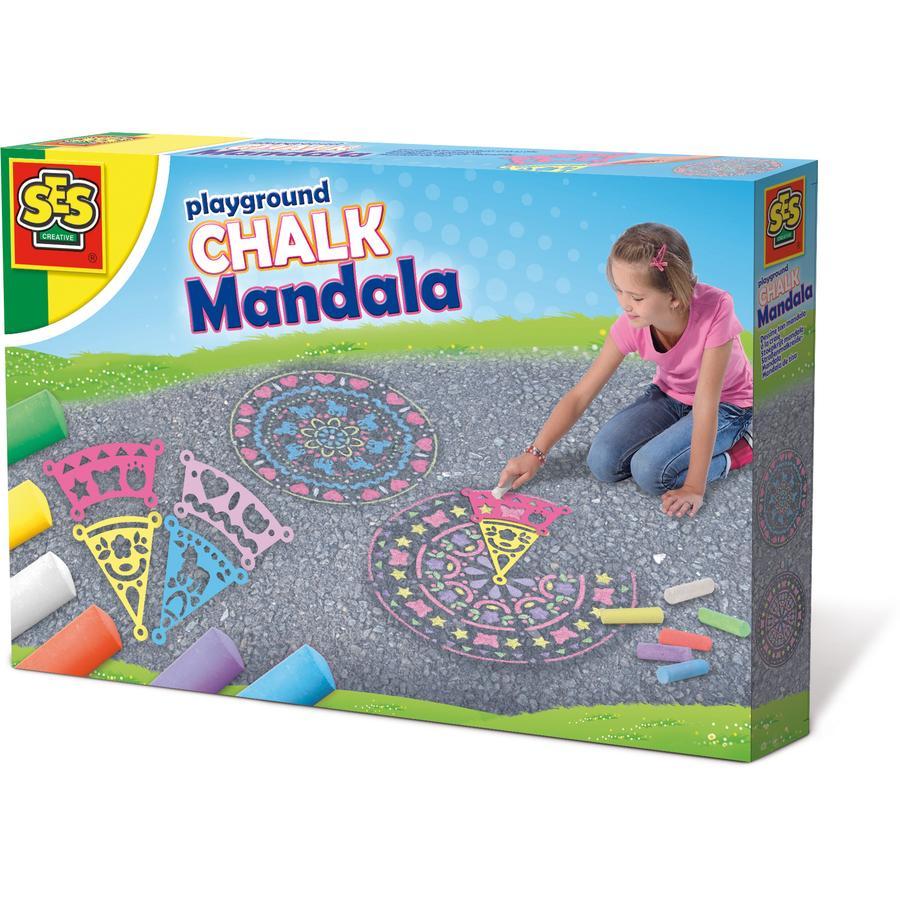 SES Creativ Farvekridt til gaden - Mandala