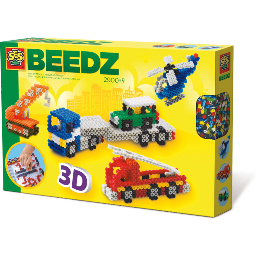 SES Creativ e® perles Beedz - Véhicules 3D