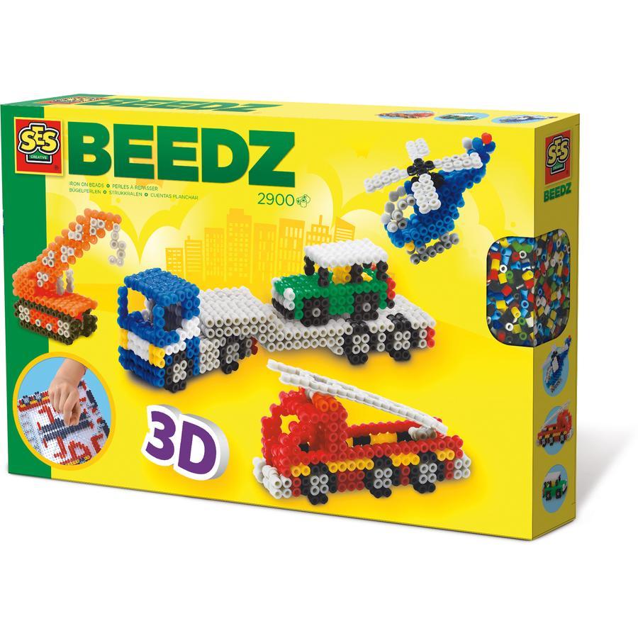 SES Creative Bügelperlen Beedz - 3D Fahrzeuge