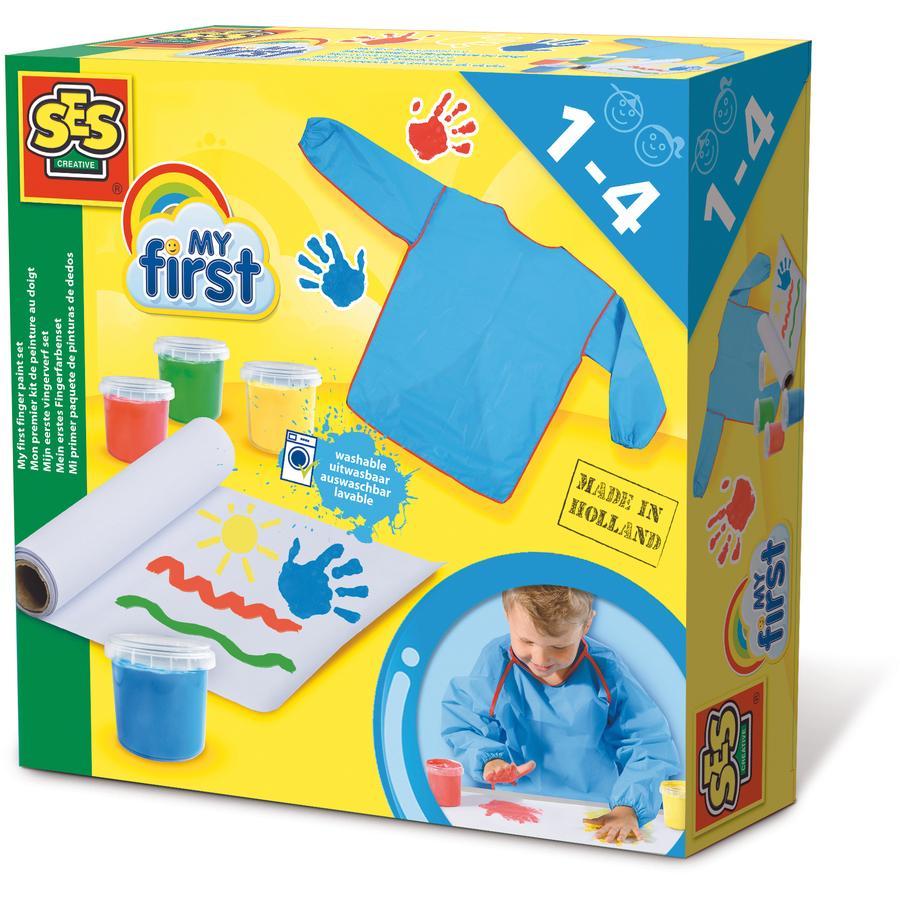 SES Creative® My first - Jeu de peinture à doigt enfant