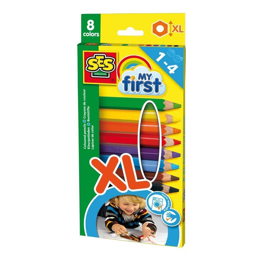 SES Creativ My first - Tykke farveblyanter XL