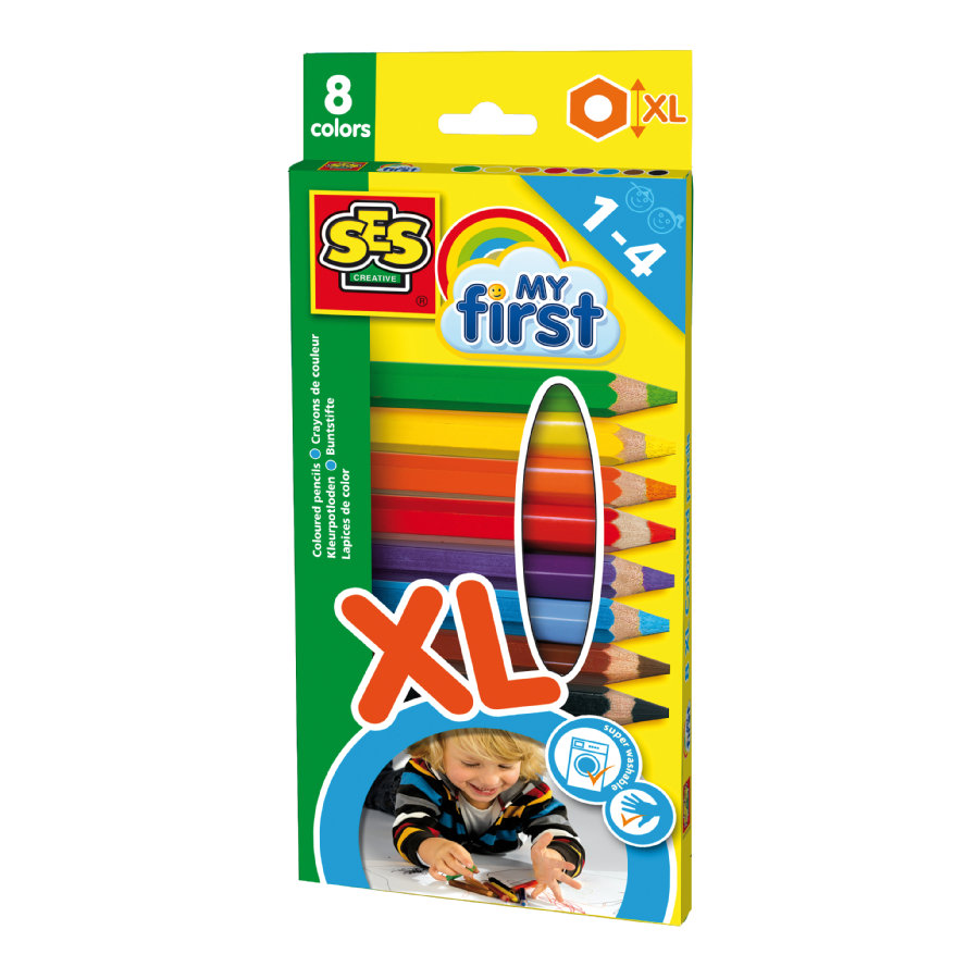 SES Creative® My first - Dicke Buntstifte XL