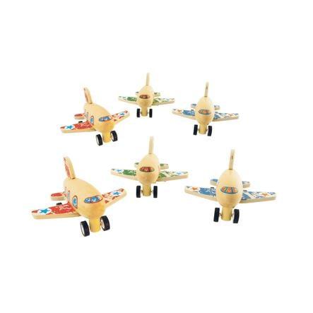 bieco Terugtrek-vliegtuig hout