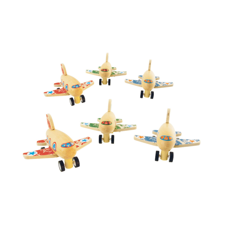 bieco Rückzugflugzeug Holz
