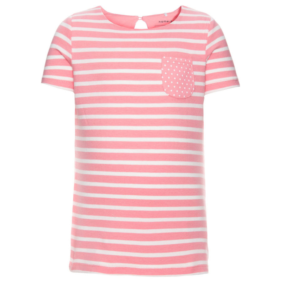 name it T-Shirt Fanny flamingo pink