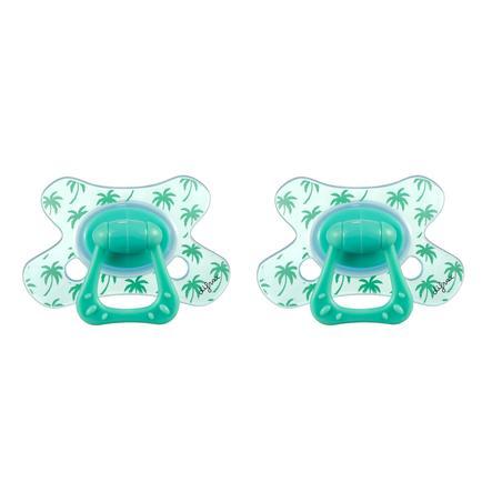 difrax Sucette Dental silicone Paradise 12 M+, 2 pièces
