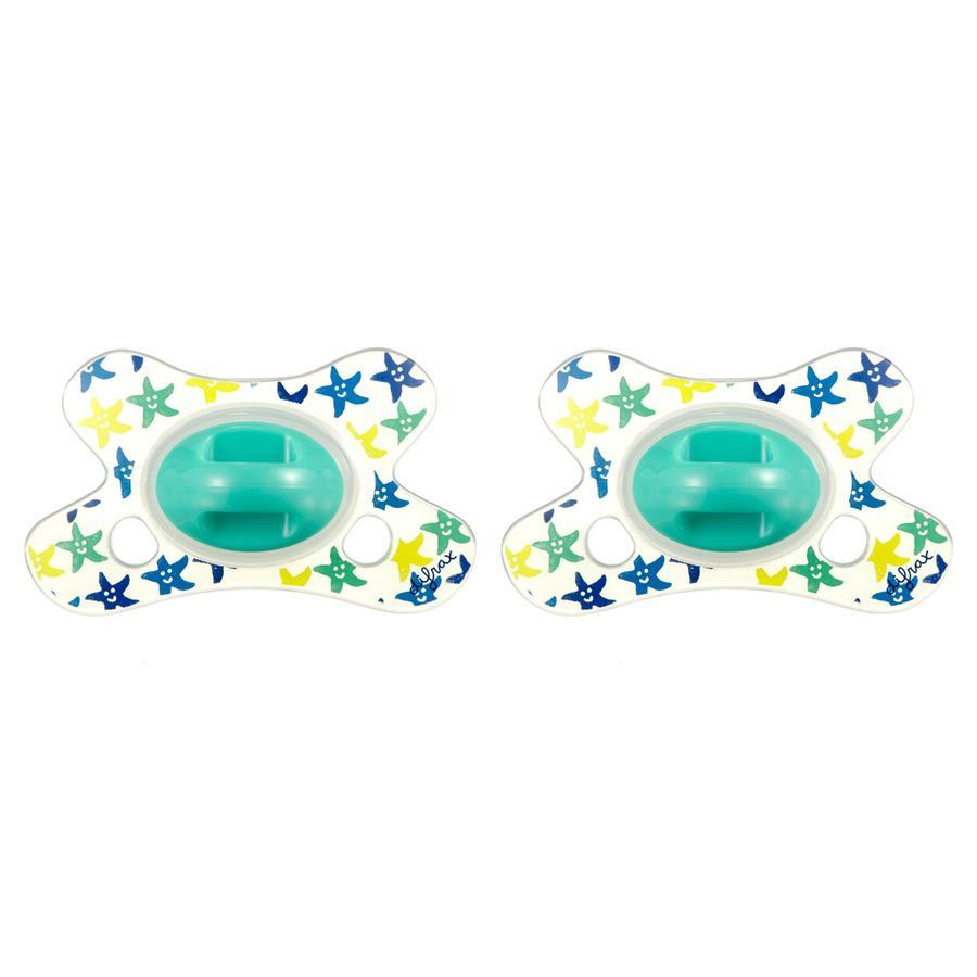 difrax Succhietto Dental in silicone Wish 0-6 m., 2 pezzi