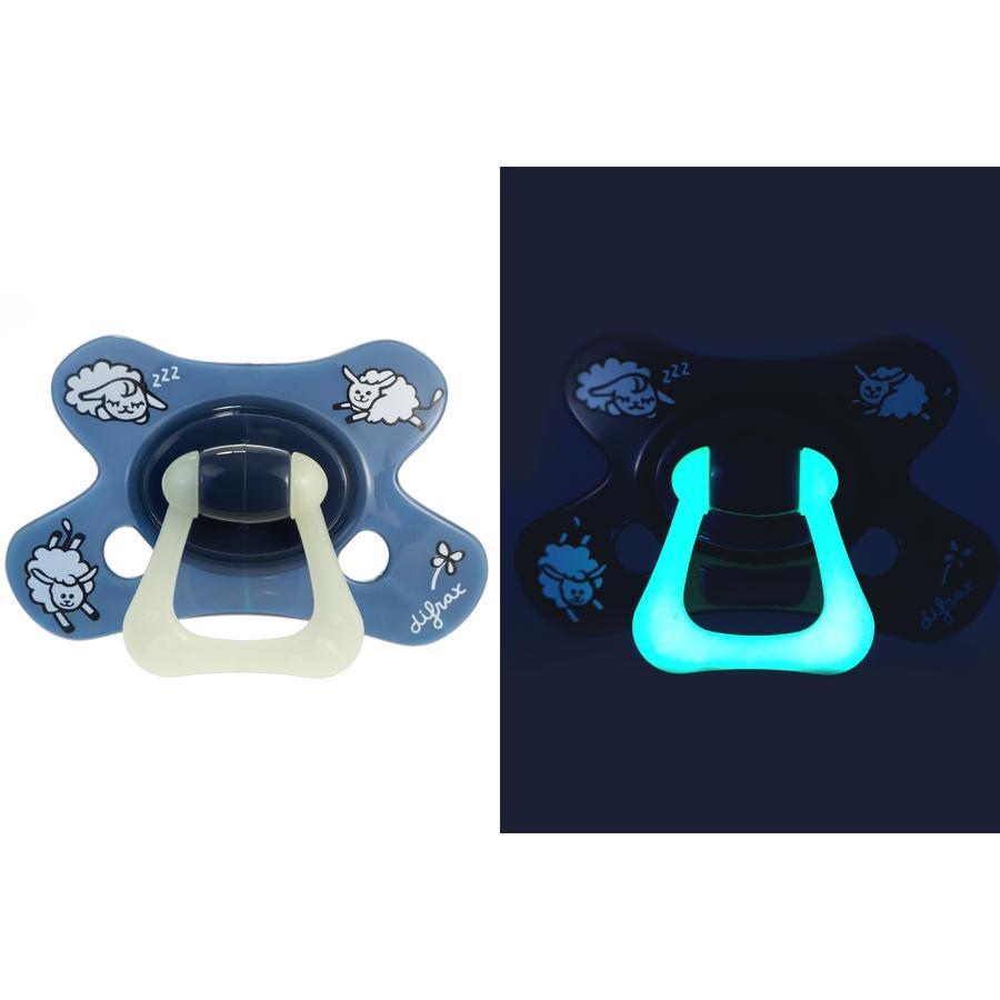 difrax Succhietto Dental in silicone Sheepy Isha 18+, 2 pezzi