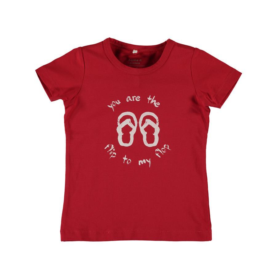 name it Girls T-Shirt Vixgi tango red