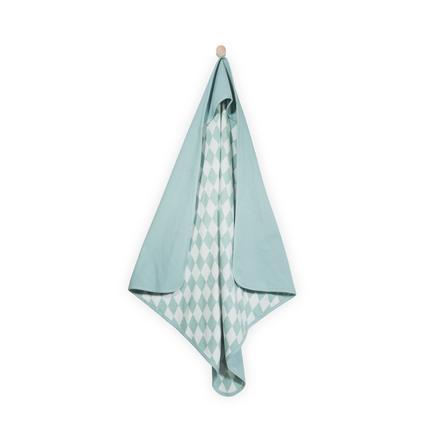 jollein Babybadehåndklæde Mini vaffel vintage green 75x75cm