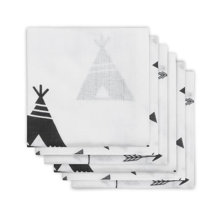 jollein Gaza wind Indians 6er-Pack 70x70cm
