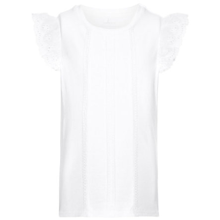 name it Girl s T-Shirt Grete blanco brillante