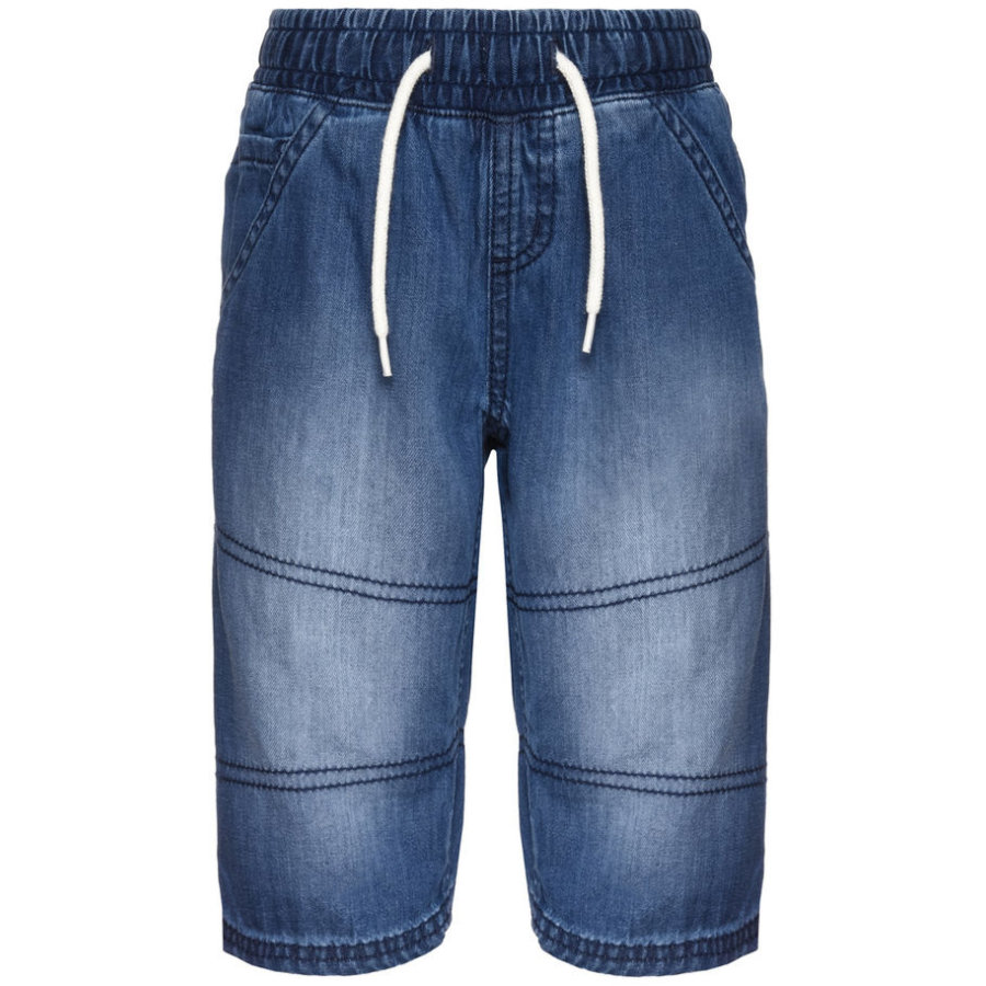 name it Sweatshorts Aben mediumblå denim