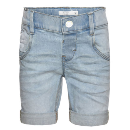 name it Boys Jeansshorts abay light blue denim