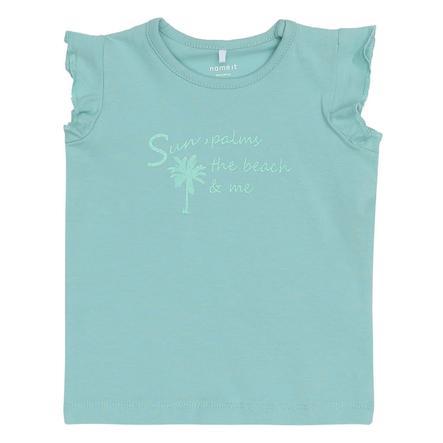 name it Girl s T-Shirt Gombo aqua haze