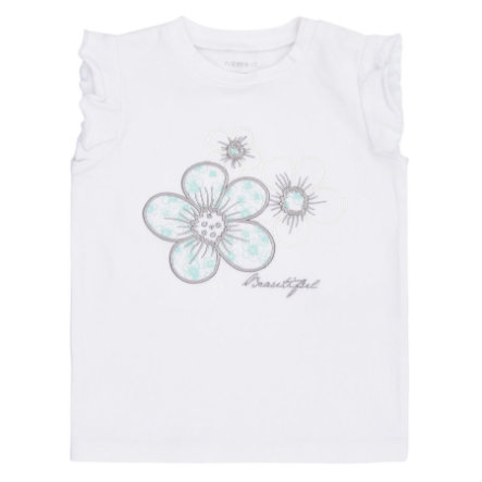 name it Girls T-Shirt Daisine bright white