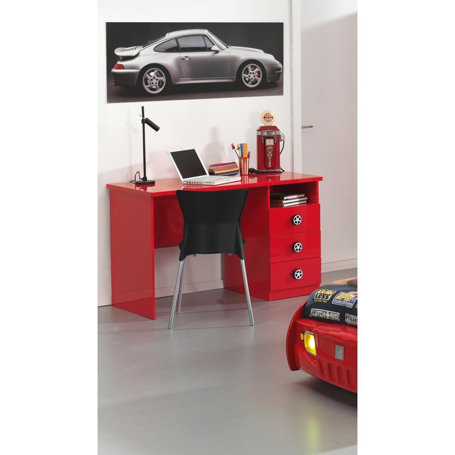VIPACK Schreibtisch Monza rot