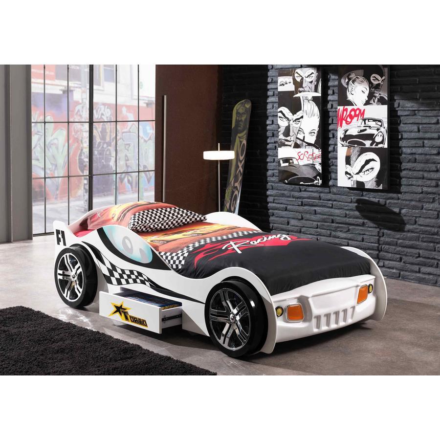 VIPACK Postel auto Turbo Racing bílá