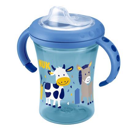 NUK Easy Learning Starter Cup, Drinkbeker, Design: Koe en Ezel, vanaf 6 maanden, inclusief drinktuit