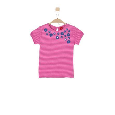 s.Oliver Girls T-Shirt pink stripes