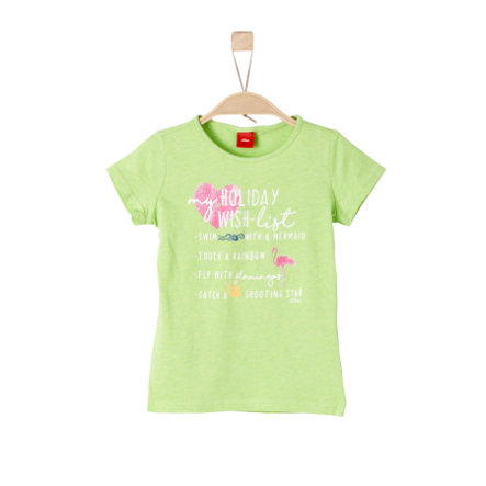 s.Oliver Girls T-Shirt light green melange