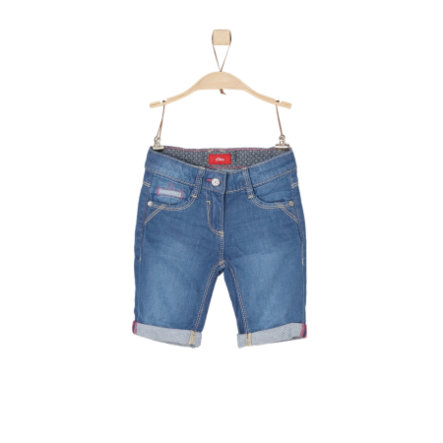 s.Oliver Girls Bermuda blue denim slim