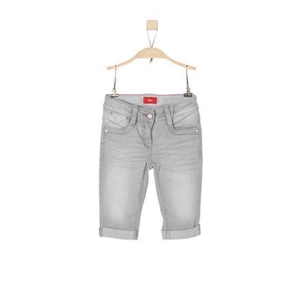 s.Oliver Girl s spijkerbroek capri pants grijs denim stretch regelmatig