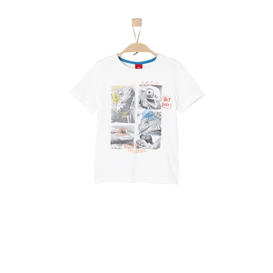 s.Oliver Boys T-Shirt Wit.